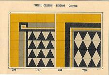 Stampa antica PAVIMENTO A MOSAICO Piastrelle Mattonelle C 737 1910 Antique print