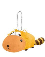 Banpresto Kapibarasan Capybara X Rascal The Raccoon Plush Keychain BANP37456 USA