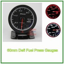 60mm def advanced turbo Fuel Pressure gauge Amber red/ white lights black face
