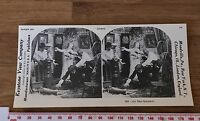 BLISS DISTURBED Comical Humorous Vintage 1978 REPRINT of a Victorian Stereoview