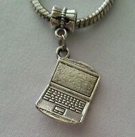 Laptop Computer Notebook Tablet Dangle Bead For European Style Charm Bracelet