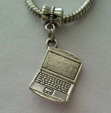 Laptop Computer Notebook Tablet Dangle Bead For European Style Charm Bracelet