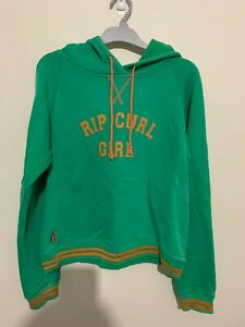 Girls RIP CURL Green Hooded Jumper - Size 14