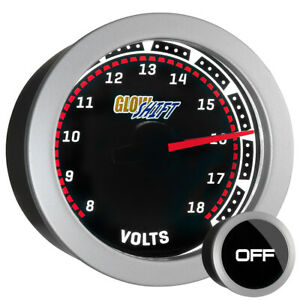 New! 52mm GlowShift Tinted DC Electrical Voltage Volt Gauge Meter w Smoked Lens