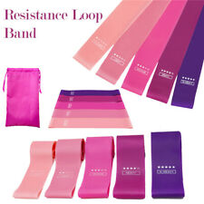 5 PCS Resistance Band Set Yoga Pilates Abs Exercise Fitness Tube Workout Bands