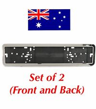 European Euro Number License Plate Cover Frame Holder Mounting Bracket CHROME