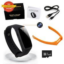Bracelet Hidden Mini Spy Camera Wearable Wirstband HD Video Audio Recording Kit