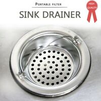 4Pcs Kitchen Bathroom Sink Strainer Filter Basket Waste Plug Drain Strainer UH