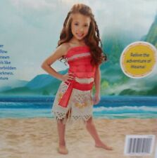 Disney Moana's Adventure Outfit Girls 3+ size 4-6X Costume Cosplay Summer