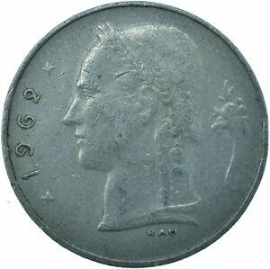 COIN / BELGIUM / 1 FRANC 1962  #WT22145