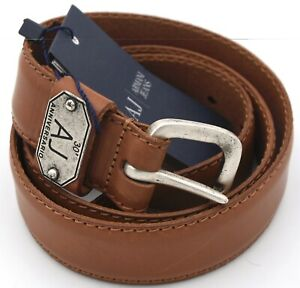 ARMANI JEANS MAN BELT 100% LEATHER MADE IN ITALY CASUAL CODE P6132 DEFECT