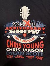92.5 Xtu Anniversary Show Bb&T Pavilion Chris Young/Chris Janson T Shirt Large