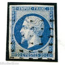 France Napoléon N°14A oblitération roulette de points rectangles