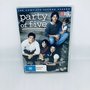 PARTY OF FIVE Season Two DVD Region 4 TV SHOW Very Good Condition FREE SHIPPING