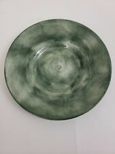 """Eddie Bauer Home Collection Dinner Plate 8.5"""" olive green w/imperfections lot 2"""