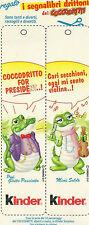 Segnalibri Drittoni dei Coccodritti Kinder Prof. Giotto Panciotto e Mimì Soldò