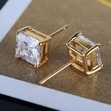 Your valued choice! 24k yellow gold filled lovely white sapphire stud earring