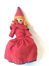 Vtg 9.75� Topsy Turvy Little Red Riding Hood Wolf Grandma Flip Reverse Doll Rag