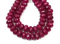 """Natural 5X8MM Faceted Genuine Red Ruby Abacus Gems Loose Beads 15"""" Strand AAA"""