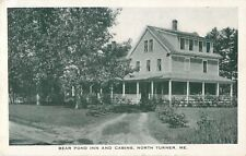 A View Of The Bear Pond Inn & Cabins, North Turner, Maine ME 1938