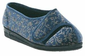 Comfylux Helen Extra Wide Fitting Slipper touch easy fastening for cosy feet
