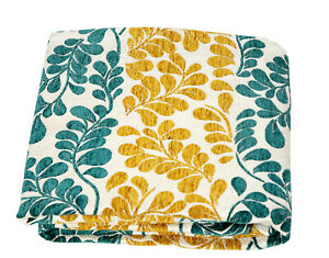 Floral Leaf design Jacquard Chenille Sofa / Bed Throw Blanket or Cushions