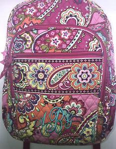 Vera Bradley backpack quilted floral outside zipper pockets