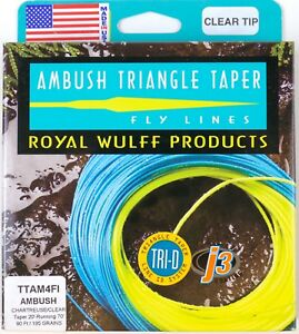 Royal Wulff Ambush Taper Clear Tip 4 Weight Fly Line - NOW ON SALE!