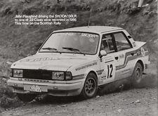 SKODA 130LR impulsado por John Haugland en 1986 rally escocés período fotografía.