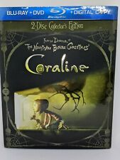 Coraline (BLU-RAY + DVD, 2009, Collectors Edition Includes 3-D glasses)