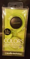 AUDIO-TECHNICA COLORS open On-Ear Headphones Ear Hanging Type Green ATH-EQ500