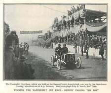 1905 Hemery Passing The Post, Winning The Vanderbilt Cup Race