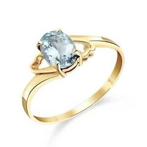 Aquamarine Ring In 14K Yellow Gold (0.75 ct. tw