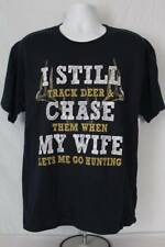 NEW Mens Deer Hunting T Shirt Size XL Graphic Tee Humor Top Funny Wife Boss Joke