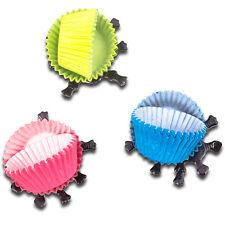 Escarabajos Mini Magdalena Cajas x60 con 30 patas de insectos Tazas De La Hornada Mollete Petite