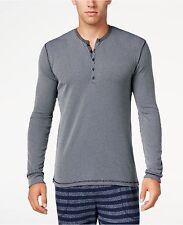 $70 Kenneth Cole reacción Hombres Camisa Manga Larga Pijama Ropa de Dormir Salón Azul L