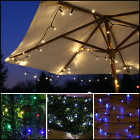 SOLAR POWERED OUTDOOR GARDEN CAMPING PATIO WEDDING PARTY FAIRY STRING LED LIGHTS