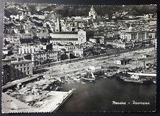 MESSINA - VEDUTA  AEREA PORTO - RETRO BOLLO FIERA MESSINA -1951