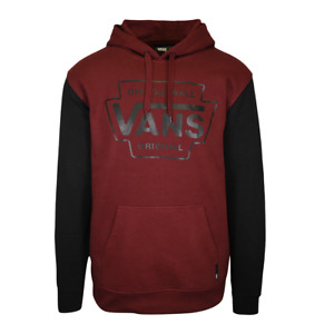 Vans Off The Wall Men's Maroon Two Tone Pullover Hoodie (S06)