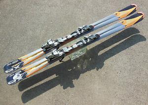 ATOMIC M²TRON EX BETA PLUS TI PULSER 165cm DOWNHILL SKIS, ATOMIC NEOX 412 BNDGS