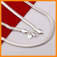 Stunning 925 Sterling Silver Filled 6MM Classic Snake Necklace Chain Wholesale
