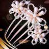 Fermaglio pettine Fiori fiore strass perle capelli acconciatura fermacapelli