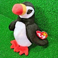 Ty Beanie Baby Puffer The Puffin Extinct Bird 1997 Retired PE Plush Toy - MWMT