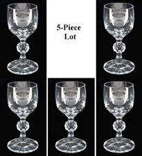 """5-Piece Lot Import Assoc. """"Claudia"""" Sherry / Cordial Glass w/ Faceted Ball Stem"""