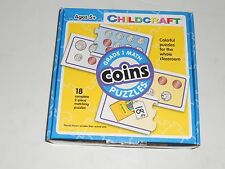 COINS Equivalent or Same Amount 2-Piece Matching Puzzle Self Correcting +5 Years