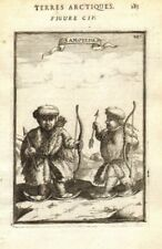 RUSSIAN ARCTIC. 'Samoyedes'. Samoyedic people. Snow shoes. Bows. MALLET 1683