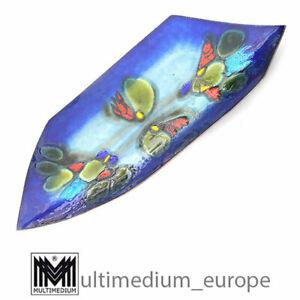 Prachtvolle Große 60,5 cm Emaille Schale LAURANA RAME D'ARTE Enamel Metal Bowl