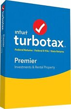 Intuit Turbotax Premier Federal + State 2018 Disc CD