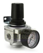 "1/2"" Air Compressor Pressure Regulator w/ Gauge Inline Industrial Quality New"