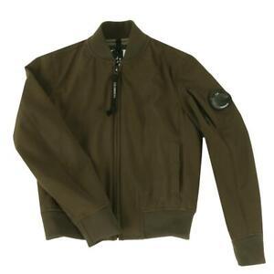 C P Company Soft Shell Bomber Jacket Boys Age 8 Green NO LENSE